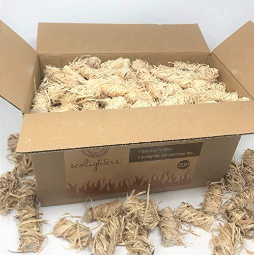 Ecolighters Firelighters - Estufa Natural para Barbacoa, Barbacoa, Barbacoa, Encendedor para Barbacoa, Chimenea, Estufa, Paquete Grande, Box 200
