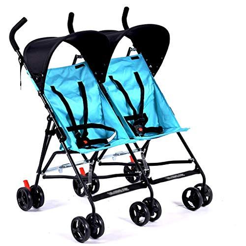 Jixi Cochecito de bebé Gemelo Cochecito de bebé Doble Ultraligero for Dos niños tamaño Doble con mosquitero Carrito de bebé (Color : G)