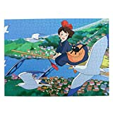 Jaxia Art-Hayao-Miyazaki-Kiki-Okino Picture Puzzles for Adults & Kids 500 Piece Boredom Buster Activity Brain Teaser Puzzle Game Children's Gifts Decorations Stress Reliever Personalized Customized