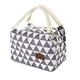 Insulated Lunch Bag,Vanvler Bottle Thermal Cooler Bag Canvas Food Box Tote for Women Kids (21/14/15cm, A)