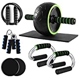 Odoland AB Roller Wheel Set for Abs Workout, 6 in 1 Abs...