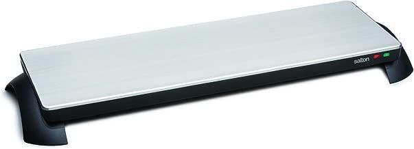 Salton TWT-30 Silhouette 800-Watt Cordless Classic Stainless-Steel Warming Tray, 3 Plate