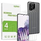 apiker 4 Stück TPU Schutzfolie für Samsung Galaxy s20, 2 Stück Kamera Schutzfolie für Samsung Galaxy s20, Anti- Kratzer blasenfrei, hohe Transparenz, hohe Empfindlichkeit