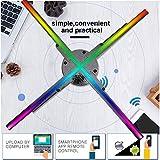 Qiancent Proyección de Publicidad 3D, Máquina de Publicidad de proyección LED 3D, Proyector de Publicidad de Holograma 3D HD de 50 cm y 4 Ejes 1600 * 576, Control de WiFi de teléfono(ES)