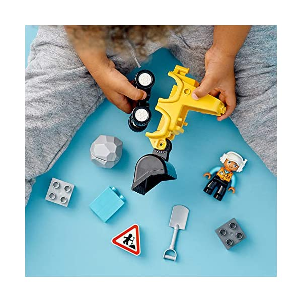 DUPLO Town DUPLO Construction Buldócer Vehículo de Construcción de Juguete Set para Niños Pequeños de 2+ Años de Edad…