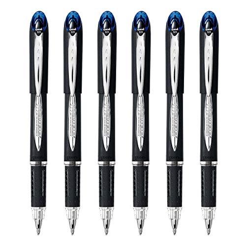 Uni-Ball Jetstream Rollerball Pen, 1.0mm, Bold Point, 6-Count (Blue, Bold)