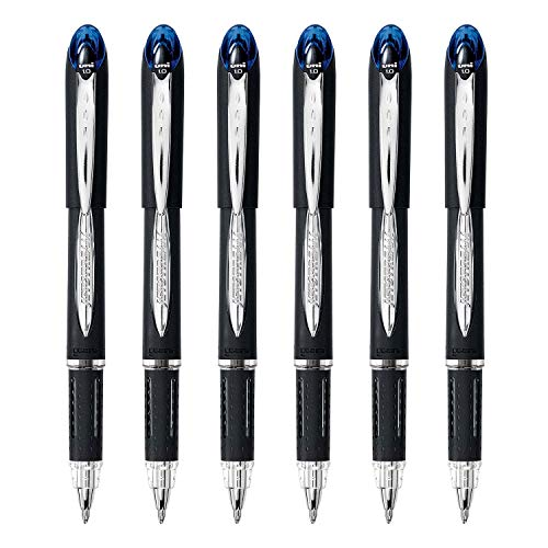Uni-Ball Jetstream Bolígrafo de punta redonda, 1,0 mm, tinta azul, 6 unidades