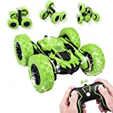 uniroi remote control stunt car, 4wd 2.4ghz rechargeable rc stunt car with double sided rotating