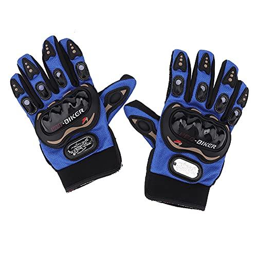 Guantes de motocicleta, motocicleta de dedo completo pantalla táctil Racing Motocross guantes para montar al aire libre pantalla táctil anti-caída guantes