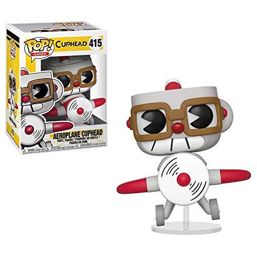 Funko 34475 Pop Vinilo: Juegos Cuphead en Avion, Multi