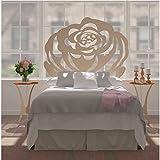 Hogares con Estilo - Cabecero de Forja Nacional Modelo Roses para una Cama de 150 cms Medidas Disponibles.