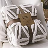 LOMAO Sherpa Fleece Blanket Fuzzy Soft Throw Blanket Dual Sided Blanket for Couch Sofa Bed (Grey, 60''x80'')
