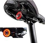Calistouk Direct Luz Trasera de Bicicleta Inteligente con Montaje de Soporte, Interruptor Manual o detección automática de luz Diurna y Encendido/Apagado Automático, Impermeable IPX6.