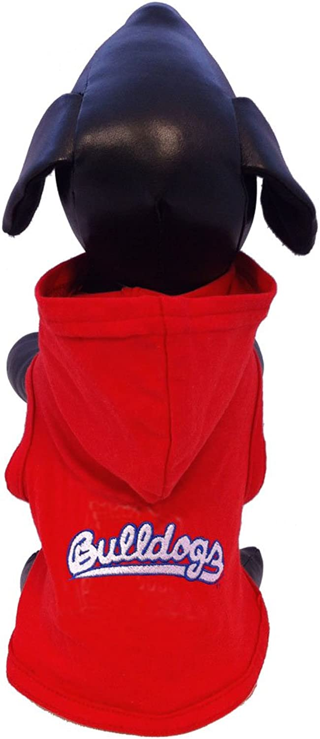 All Star Dogs Fresno State Bulldogs Cotton Lycra Hooded Shirt, XSmall