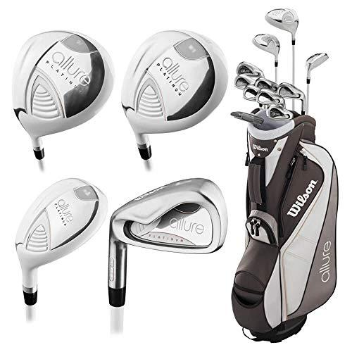 Wilson Golf- LH Ladies Allure Platinum Complete Set with Cart Bag (Left Handed) Ladies Flex