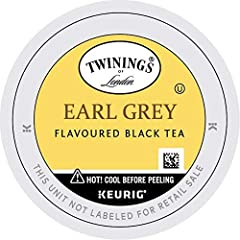 FRESH FLAVOR: One box of 24 Earl Grey Black Tea K-Cups. Fresh, fragrant and flavored with the distinctive notes of citrus and bergamot. Steep for three minutes for the perfect cup of earl grey black tea ONLY THE FINEST QUALITY: Our expert blenders so...