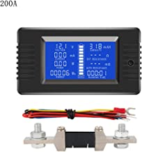 DC 0-200V 0-300A Battery Tester Voltmeter Ammeter Power Impedance Capacity Energy Time Meter 50A/100A/200A/300A Battery Monitor (300A)