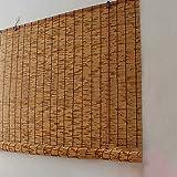 Estores Bambu Enrollables Exterior Ecological Sunshade Partition Curtain (100x150cm/39x59) Aislamiento Térmico/Transpirables/Naturales con Accesorios de Instalaciónpara Ventanas, Tamaño Personalizab