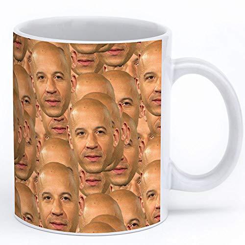 Vin Diesel Mug 11oz White Ceramic Coffee Cup With Vin Diesel Collage