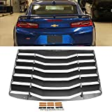For 16-19+ Chevy Camaro Rear Windshield Louver Black Window Accent Sun Shade