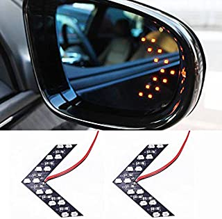 Rearview mirror turn signal concealed LED turn signal indicator 14SMD LED arrow turn signal-Red