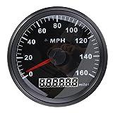 C-FUNN 85Mm Nero in Acciaio Inox GPS Tachimetro 0-160Mph per Auto Camion Moto...