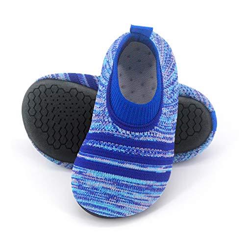 Dream Bridge Kinder Kleinkind Hausschuhe Socken mit Gummisohle rutschfeste Strick leichte Hausschuhe für Jungen Mädchen