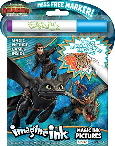Bendon 13977 How to Train Your Dragon 3 Imagine Ink Magic Ink Pictures, Multicolor