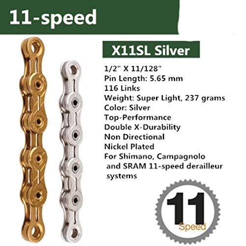 KMC X 8.93 Acero 116-Links 6 7 8 Velocidades V Cadena para Campy SRAM Shimano