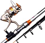MGIZLJJ Fishing Rod Kit Fly Fishing Rod and Reel Combo Lightweight...