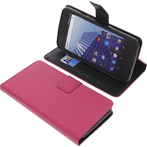 foto-kontor Tasche für Archos Access 50 4G Book Style pink Schutz Hülle Buch