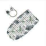 Baby Schlafsack-Set elastisch und weich und bequem mit der gleichen Farbe Schleife Haarband (für 0-2 kleine Babys)