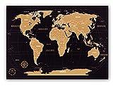 Weltkarte zum Rubbeln - Kronewerk - Deutsch - Kreatives