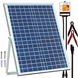 POWOXI 20W Solar Panel,12V Solar Panel Charger Kit + 8A Controller, Suitable for Automotive, Motorcycle, Boat, ATV, Marine, RV, Trailer, Powersports, Snowmobile etc. Various 12V batteries.