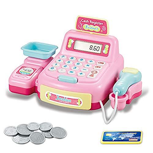 Speel Cash Register Speelgoed Voor Kids, Kassier Van De Supermarkt Toy, Pretend Play Money Machine, Kids Jongens Meisjes Gifts,A