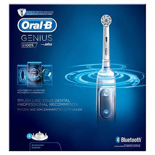 Oral-B Power Genius 8100S Elektrische Zahnbürste Silber, 3er Pack(3 x 750 g)