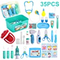 Kids Toys Doctor Kit with 35 Pieces Dentist's Equipment, Durable Medical Kit Pretend Holiday/Birthday Gift for Kids, Packed in a Sturdy Gift Case by