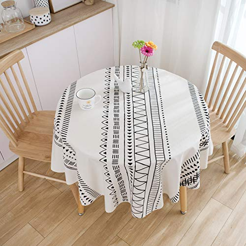 Patrones geométricos Mantel Redondo diámetro 150 cm decoración del hogar Proteger la Mesa de Comedor Mesa de café de Escritorio