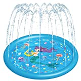 HITOP Kids Sprinklers for Outside, Splash Pad for Toddlers & Baby Pool 3-in-1...