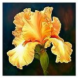 MZA DIY 5d de Bricolaje Completo de Diamante Pintura Cruz Mosaico de la Puntada del Iris Amarillo Bordado de Flores Lover decoración del hogar del Arte aliviar la presión (Size : Round 100x100cm)