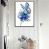 SYFDW Lienzo Art Moderno Abstractos de Mariposa Cuadro Lienzo Impresión Impresión Exterior Pared Decoración Hogar 50 cm x 90 cm
