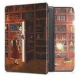 kwmobile Hülle kompatibel mit Kobo Glo HD/Touch 2.0 - Kunstleder eReader Schutzhülle - Magische Bibliothek Mehrfarbig