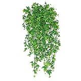 HomeDecTime Floral Artificiel Suspendu Plantes Décor Rameaux Plantes Assortis pour Décoration D'intérieur Murale Jardin - Vert