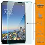 Saxonia zanasta 3 Stück Bildschirmschutz Glas kompatibel mit Huawei MediaPad X1 / X2 Folie aus Gehärtetem Glass (9H Festigkeitgrad) | Klar Transparent