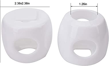 Suwimut 10 Pack Child Proof Door Knob Cover, Baby Kids Safety Door Handle Locks Easy to Install and Remove on Doors (White)
