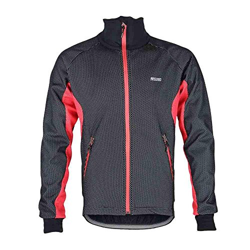 Tofern heren jongens jas fleece jas fietsjas fleece winter fietssport Outdoor winddicht warm groen/rood/blauw