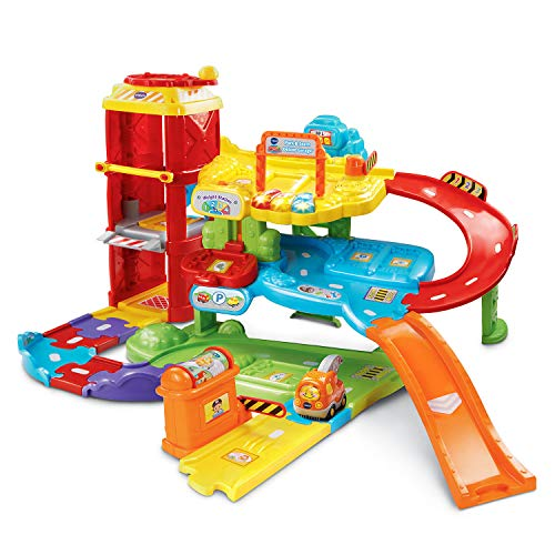 Toy Garage and Ramp for Toddlers