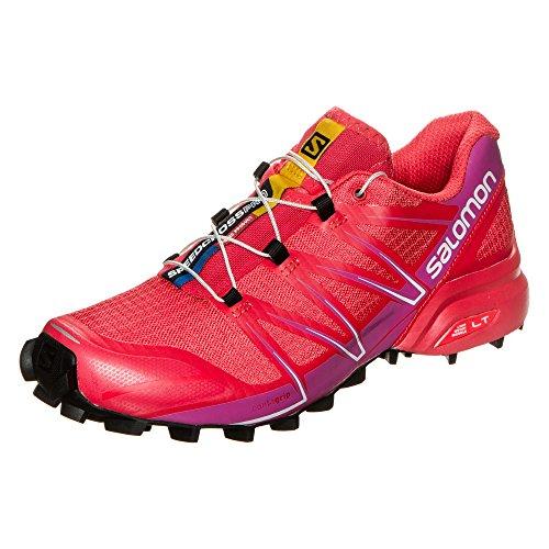 Salomon Speedcross Pro W, Zapatillas de Trail Running Mujer, Rojo (Poppy Red/Rose Violet/Black), 42 2/3 EU