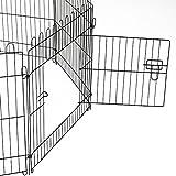 PawHut D06-025 Welpenauslauf / zaun Laufstall Freilaufgehege Hunde Achteckig, schwarz - 6