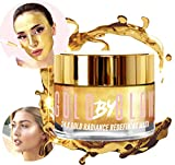 Or 24K Radiance Redéfinir Masque Visage Acide Hyaluronique Vitamine A C E Caféine Glycérine Réhydratant Anti-Rides Raffermissant Apaisant Hydratant Rougeoyant Traitement Facial 100 ml | GOLD BY GLOW